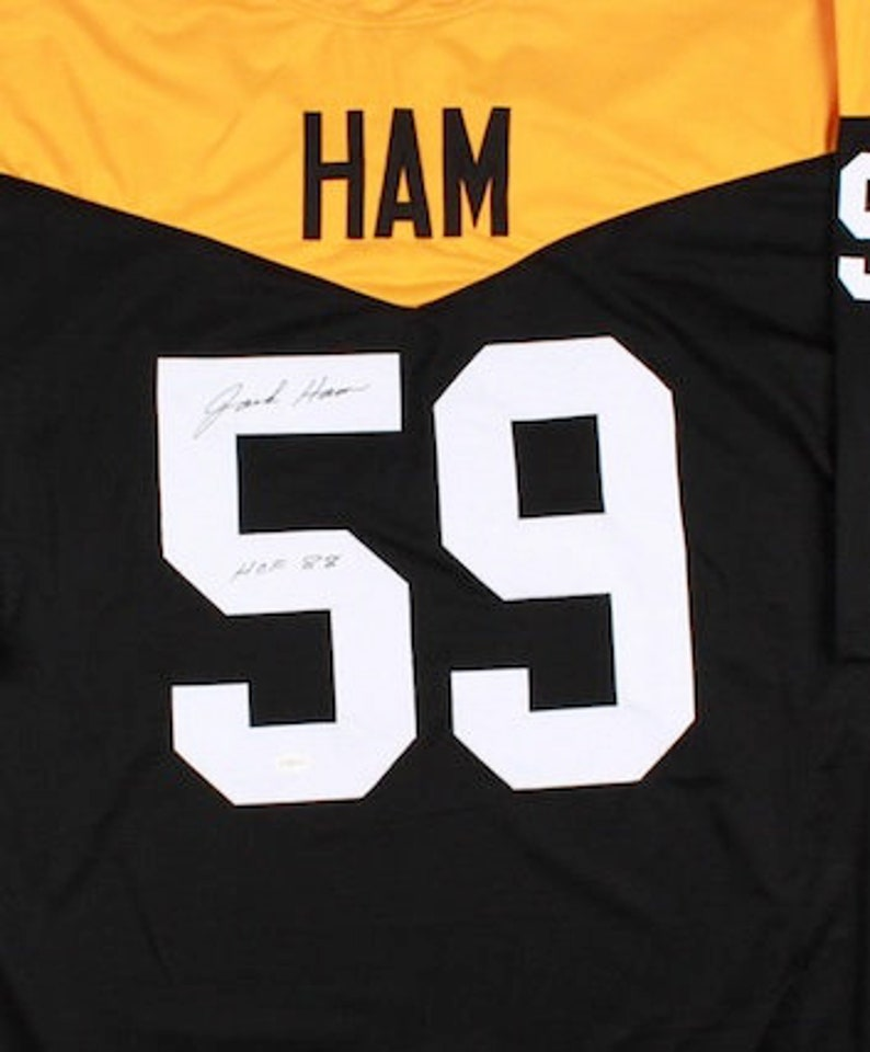 557fcd1e0 Jack Ham Autographed Signed Pittsburgh Steelers Throwback