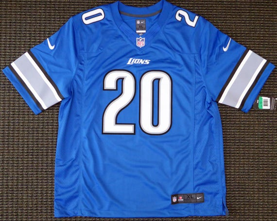size 40 d1ba6 72cf4 Barry Sanders Autographed Signed Detroit Lions Nike Jersey BECKETT