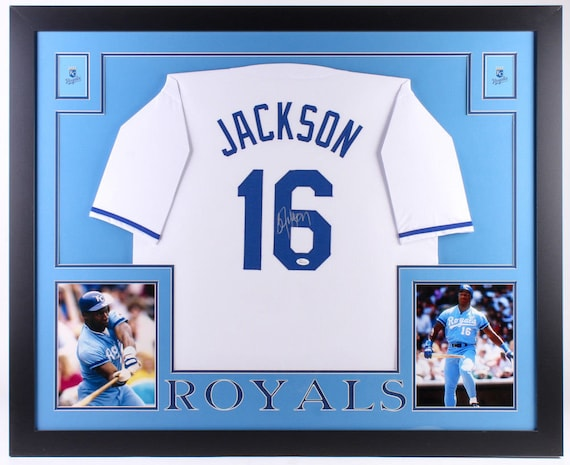 sale retailer 394d9 fe7dd Bo Jackson Autographed Signed Kansas City Royals Framed Jersey JSA