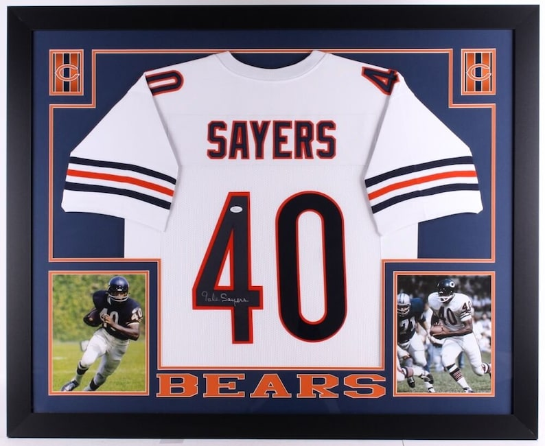 fc20d416b Gale Sayers Autographed Signed Framed Chicago Bears Jersey JSA | Etsy