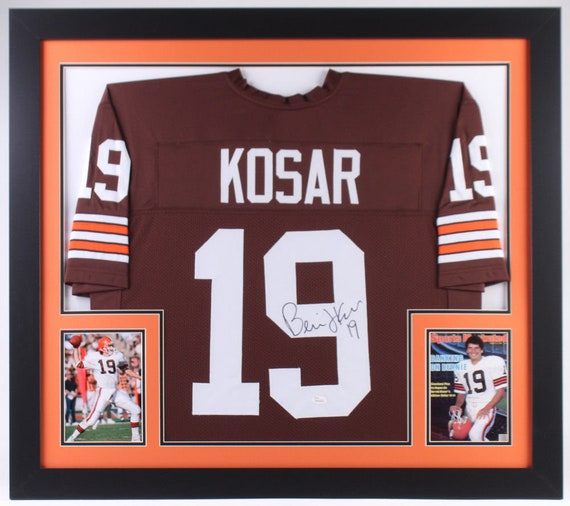 new product 8dfb8 67afb Bernie Kosar Autographed Signed Framed Cleveland Browns Jersey JSA