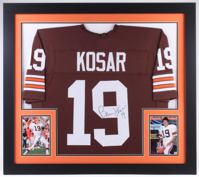 cdee173d Bernie Kosar Autographed Signed Framed Cleveland Browns Jersey JSA