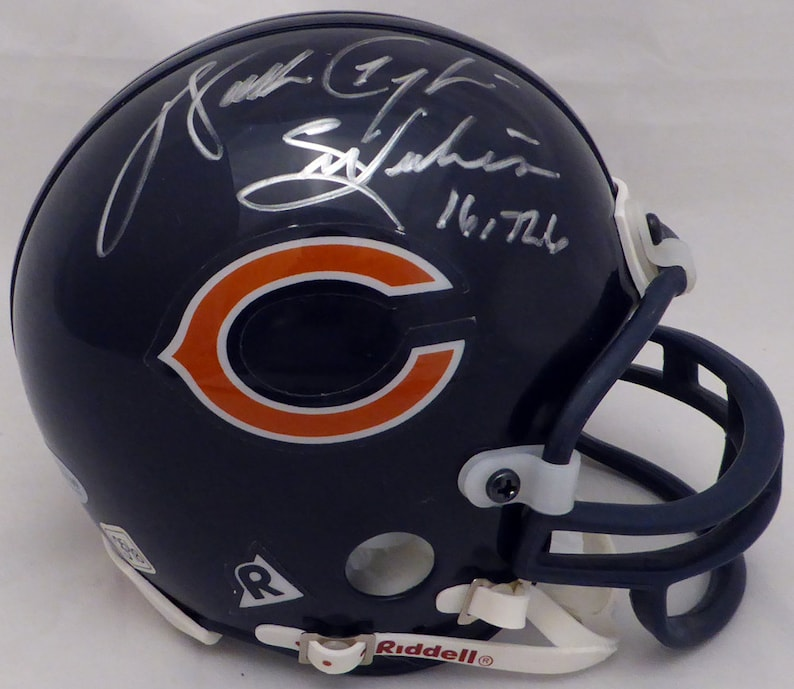 5e6500f1 Walter Payton Autographed Signed Chicago Bears Mini Helmet BECKETT