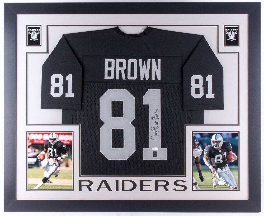 Tim Brown Autographed Signed Oakland Raiders Framed Jersey BECKETT