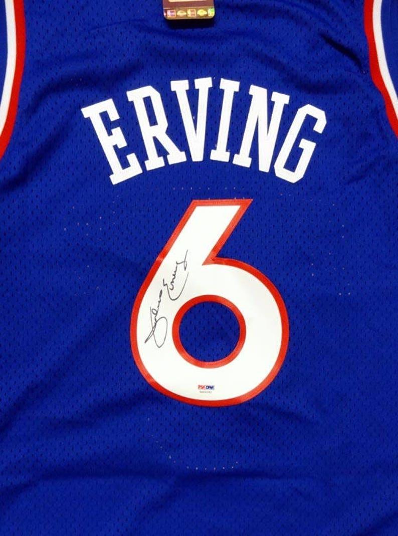 d04bc581 Julius Erving Dr.J Autographed Signed Philadelphia Sixers | Etsy