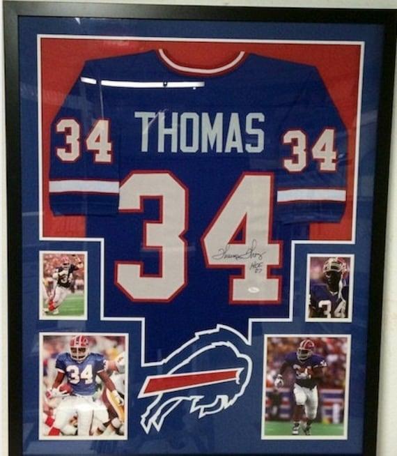 Thurman Thomas Autographed Signed Framed Buffalo Bills Jersey | Etsy