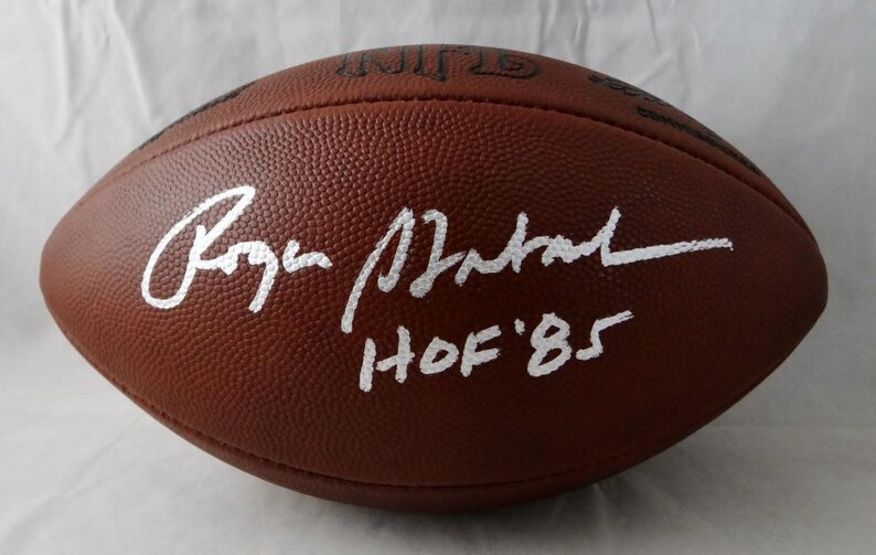 f5b6afb2b15 Roger Staubach Dallas Cowboys Autographed Signed Official   Etsy