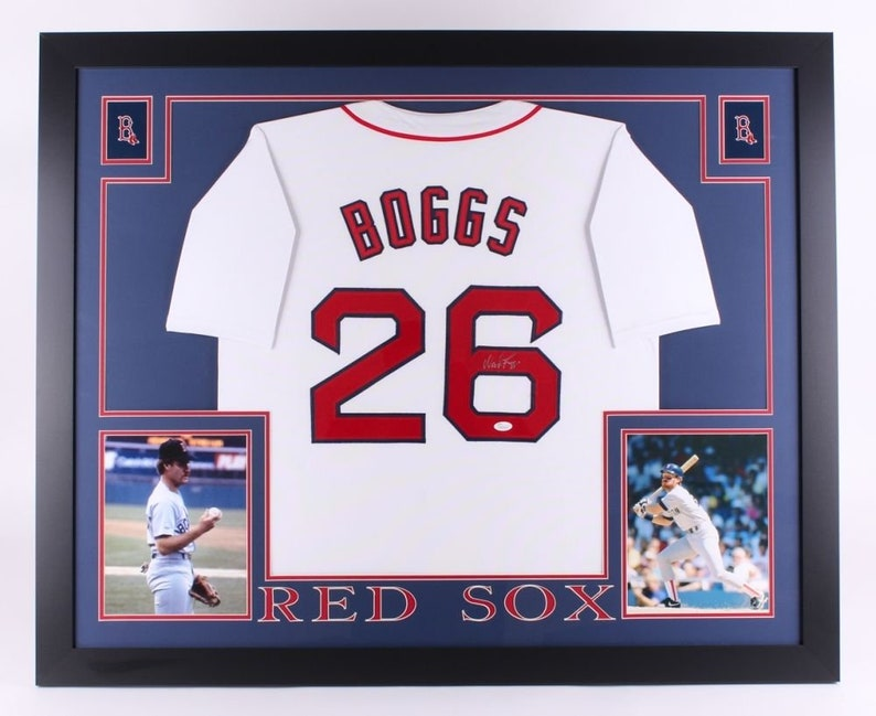 newest 611a2 53d16 Wade Boggs Autographed Signed Boston Red Sox Framed Jersey JSA