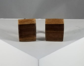 Wood Cuff links (Walnut and Mahogany)