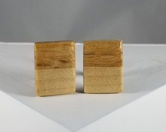 Wood Cuff links (Oak and Maple