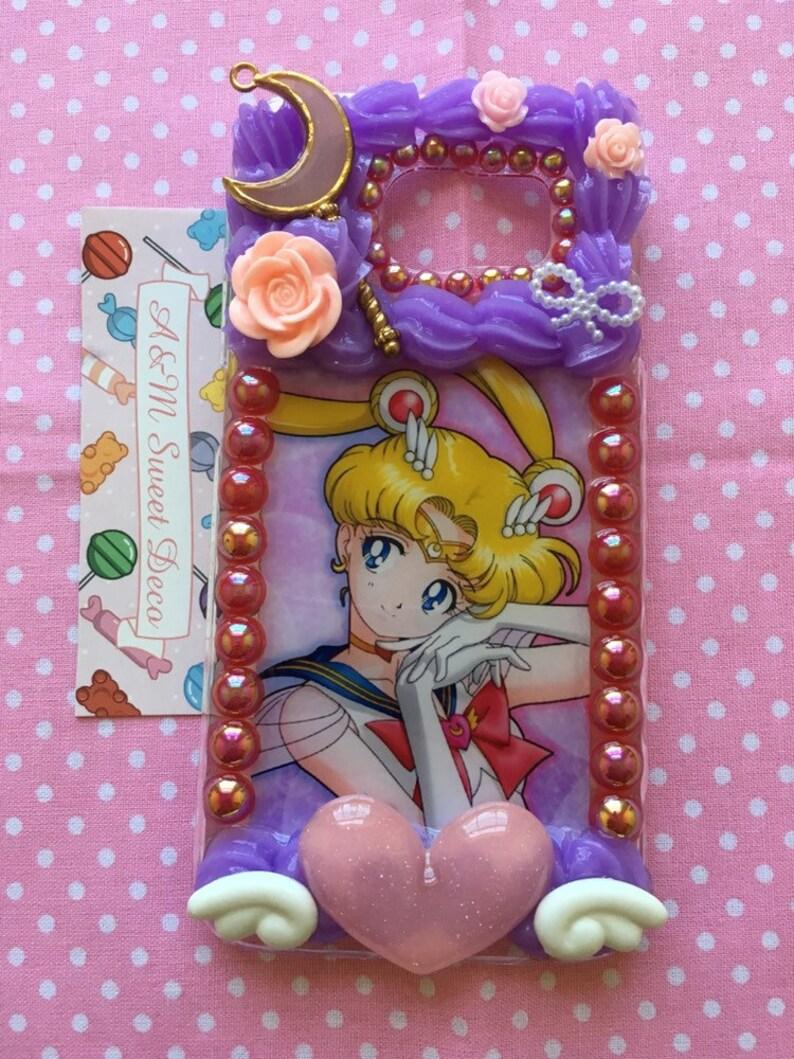online store f0370 aed99 Pastel Sailor Moon Samsung Galaxy S6 Decoden Phone Case