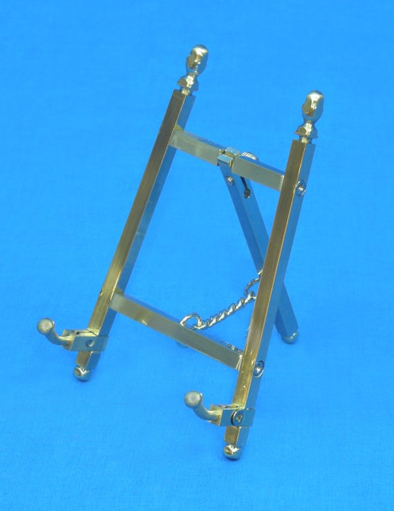"Solid Brass Decorative Brass Easel 21/"" ~ Picture Stand ~ Display Stand"