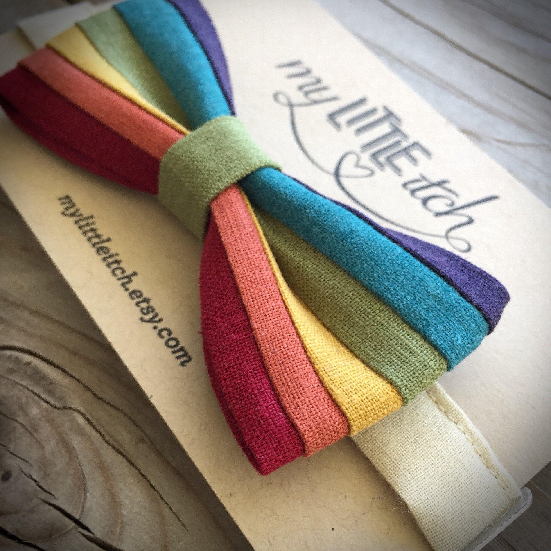 Fancy Dress Men/'s Rainbow Bow Tie Gay Pride LGBT Festival Accessory u88 350