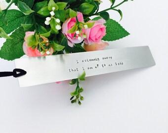 Metal bookmark | Custom Bookmark | Handmade Gift | Book readers Gift | Teachers Gift | Gift for Her | Gift for Him | Handmade bookmark