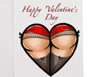 Heart Butt Valentine Card
