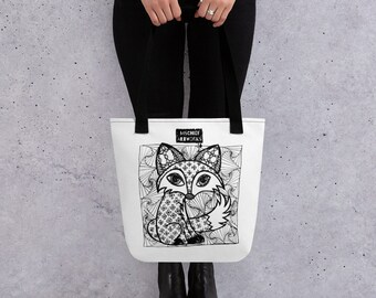 Fox Zentangle Tote bag by MISCHIEF ARTworks