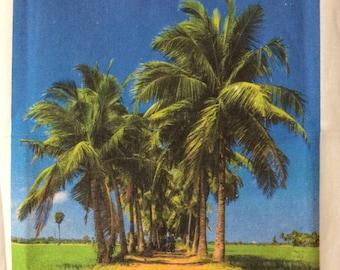 Tropical oasis Teatowel