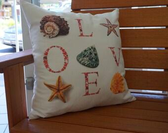 Love and Sea Cushion Cover 45cm x 45cm
