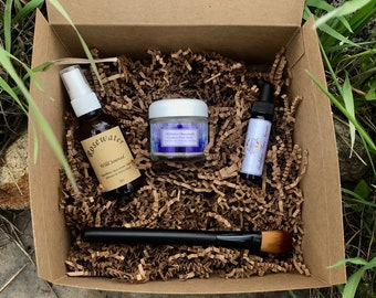 Organic Facial Kit- Facial serum, Face Mask Set, Aromatherapy Face Mask