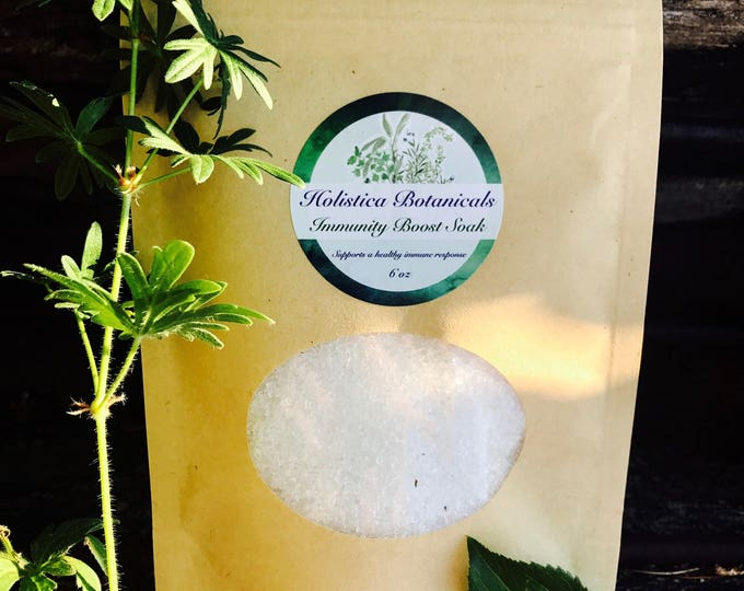 Immunity Boost Aromatherapy Bath Salts- Essential Oil Soak, Foot Soak, Get well gift