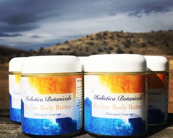 Organic Body Butter- Natural Aromatherapy Cream, Energizing Whipped body butter, Pure Essential Oils