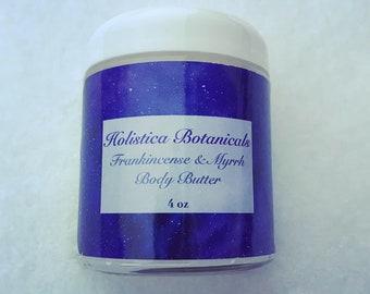 Frankincense & Myrrh Body Butter- Whipped organic moisturizer, Organic lotion