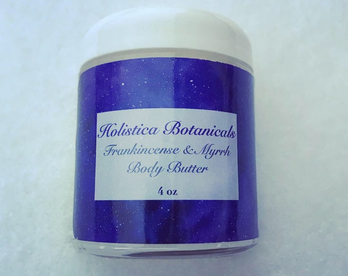 Frankincense & Myrrh Body Butter- Whipped body Butter, Natural lotion, Organic Hand Lotion