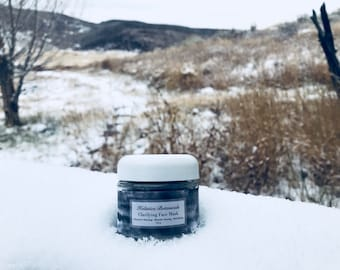 Clarifying Face Mask - Clay face mask, charcoal face mask, Pure essential oils