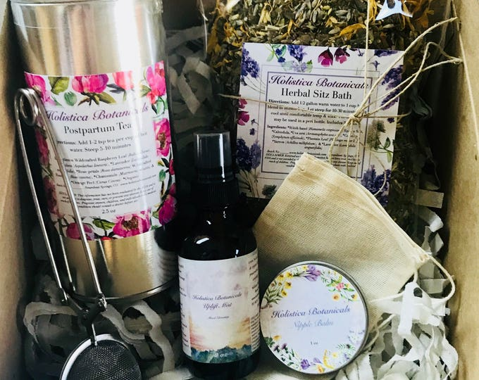 Featured listing image: Post partum Gift Set - Baby shower gift, Pregnancy tea, Nipple balm