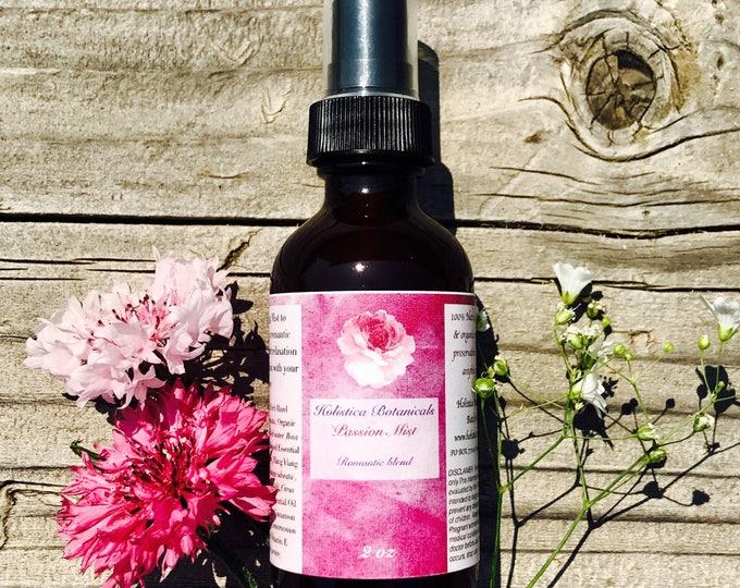 Passion Aromatherapy Mist- Romance Pure Essential Oils/ Hair Perfume/ Organic Room Spray