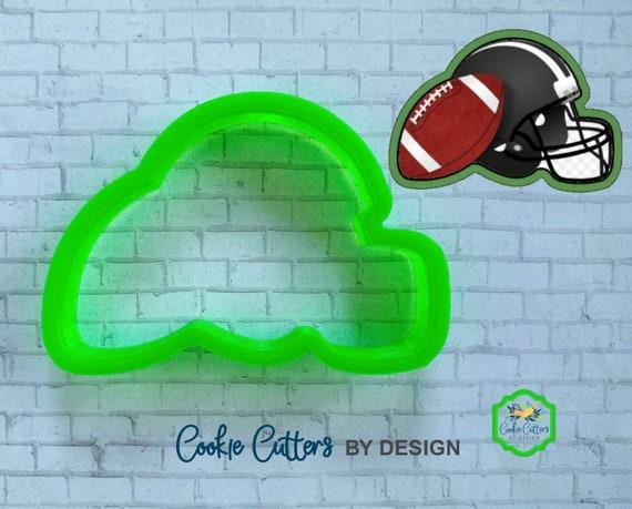 3D Printed Helmet Football Cookie Cutter Sport Cookie Cutter Foot Ball Football Helmet Cookie Cutter University College High School