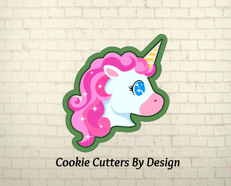 Unicorn Cookie Cutter / Unicorn Head Cookie Cutter / Cookie | Etsy