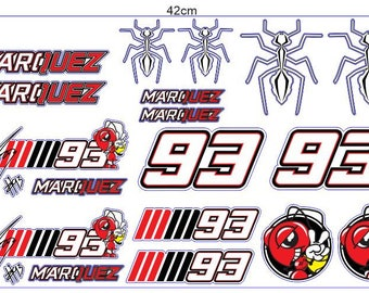1 Set Marc Marquez Sticker Aufkleber Autocollants Pegatinas Digital Print The Doctor Bike Yamaha Racing Moto GP Helmet JDM Notebook
