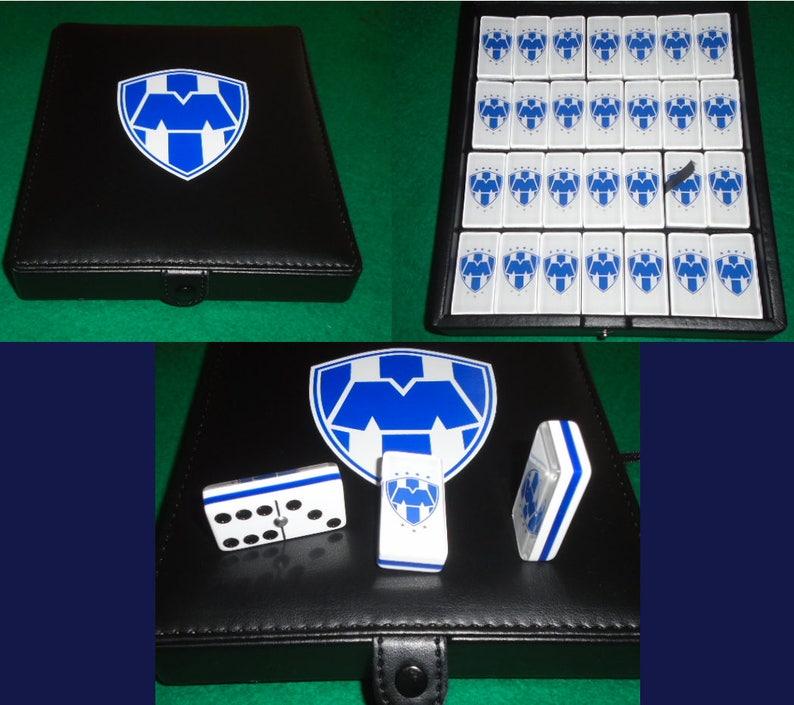 cf152e9d5 Rayados de Monterrey Domino Game Set Double 6 Dominoes Futbol | Etsy