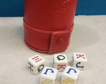 Cerveza Victoria Beer Poker Dice Shaker Cup Game Cubilete Party Gift Man Cave Father Dad Husband Man Men Birthday Gift Craftbeer Casino Bar