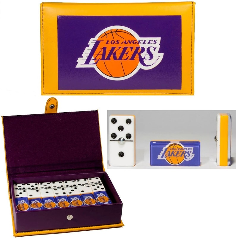 Los Angeles Lakers Domino Set Double Six Dominoes Dominos Man