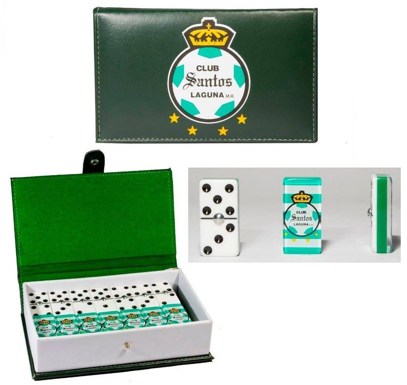 c23102175 Club Santos de Torreon Domino Game Set Double Six Dominoes | Etsy