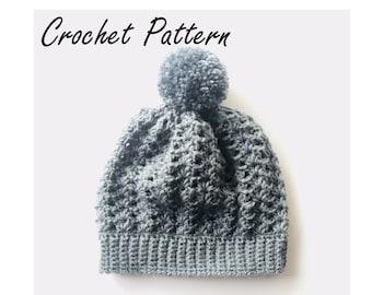 Autumn River Beanie Crochet Pattern//PDF Crochet Pattern//Crochet Tutorial