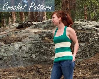Relaxed Racerback Tank Top // Crochet PDF Pattern
