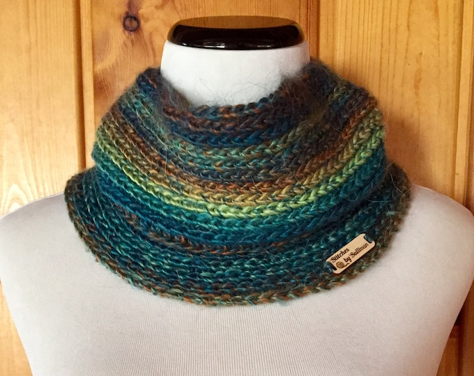 Faux Knit Cowl in Jewel