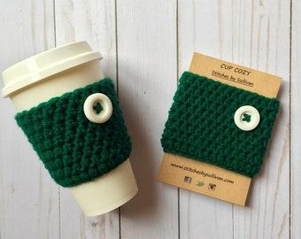 Evergreen Coffee Cozy