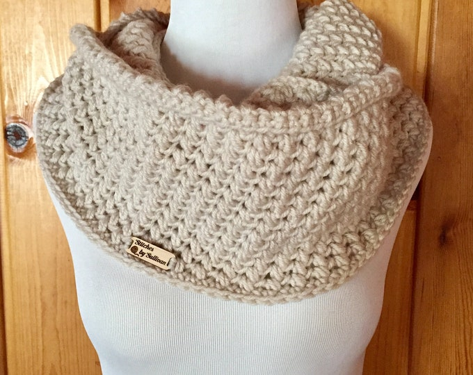 Bean Stitch Double Cowl
