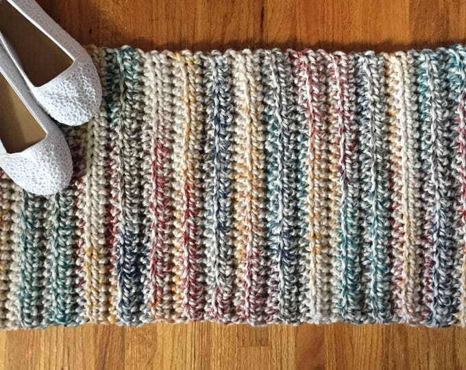 Multicolor Crochet Rug