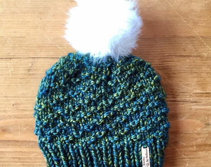 Bristlecone Beanie in Jewel, knit beanie, knit hat, knit cap