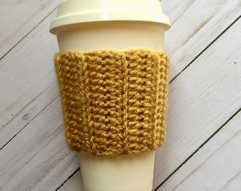 Mustard Coffee Cozy