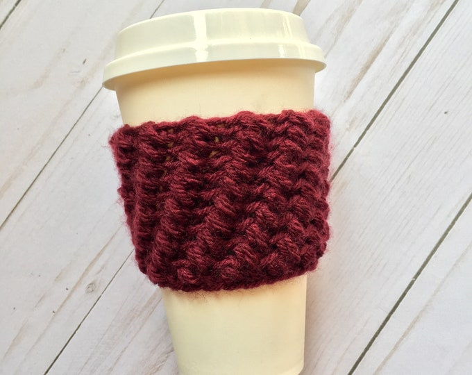 Burgundy Coffee Cozy