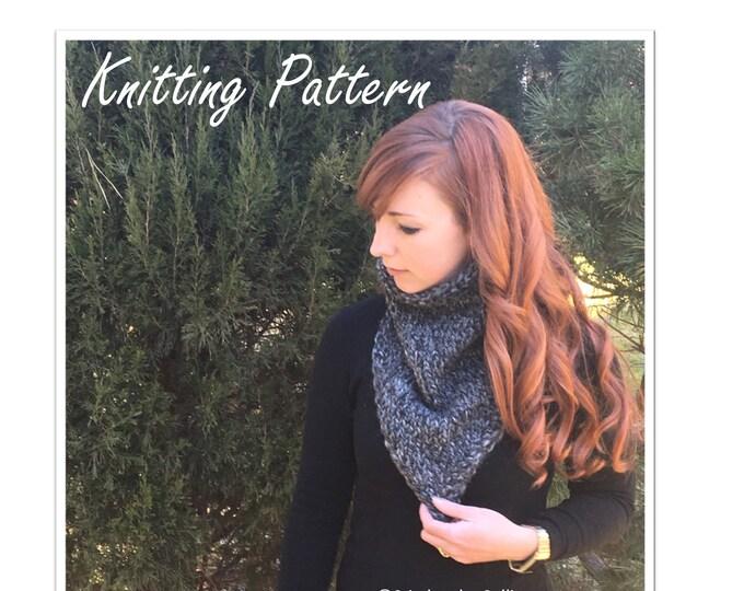 Alice Bandana Cowl Knitting Pattern // knit cowl pattern, knit bandana pattern, knitting tutorial, knit scarf pattern
