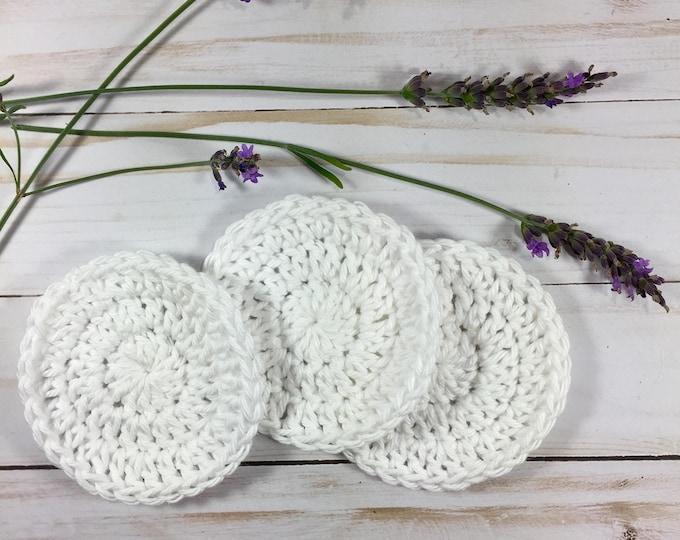 Cotton Facial Scrubbies Set of 3