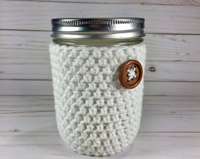 Cotton Mason Jar Cozy