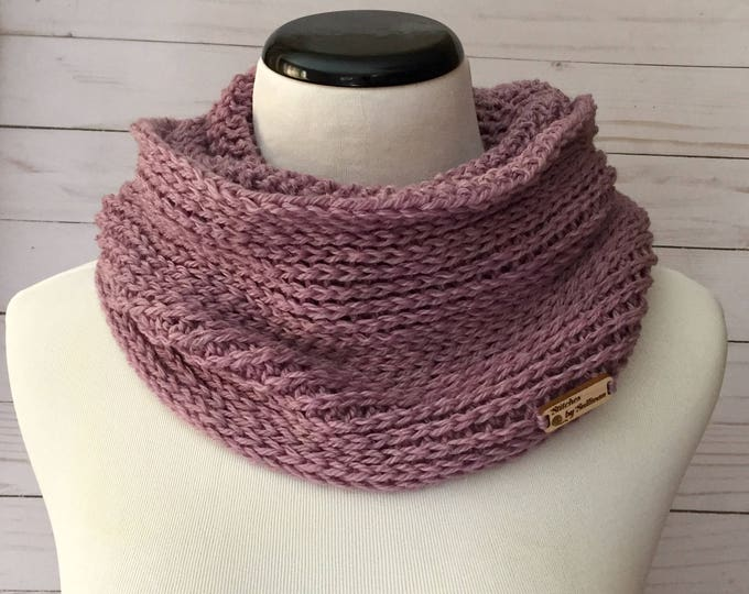 Luxury Faux Knit Infinity Scarf in Lilac